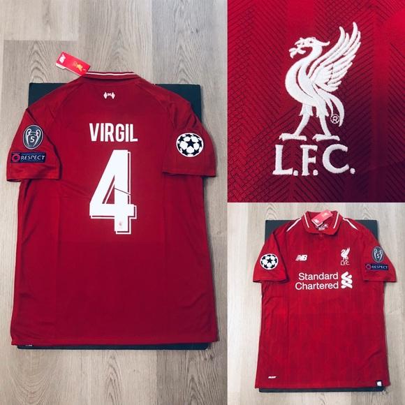 free shipping f1052 e1d26 Virgil van Dijk soccer jersey Liverpool home NWT